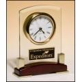 BC872 Gold/Rosewood Clock